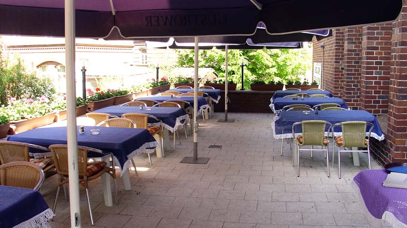 Terrasse Restaurant Akropolis Güstrow